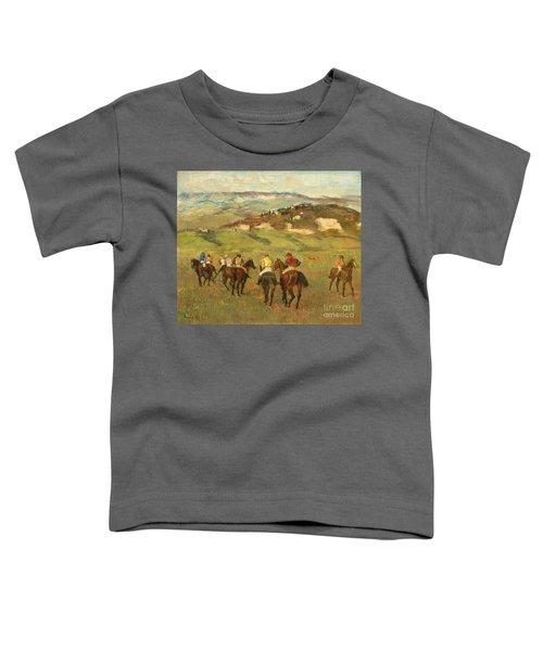 Jockeys On Horseback Before Distant Hills Toddler T-Shirt