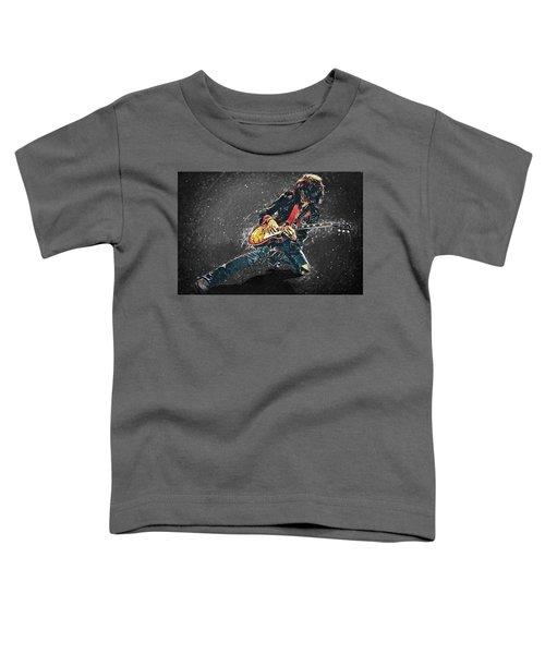 Joe Perry Toddler T-Shirt by Taylan Apukovska