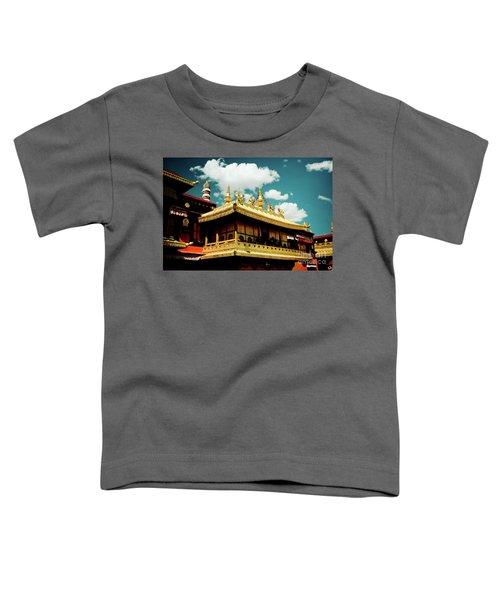 Jokhang Temple Fragment  Lhasa Tibet Artmif.lv Toddler T-Shirt