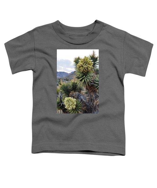 Joshua Tree Bloom Rainbow Mountain Toddler T-Shirt