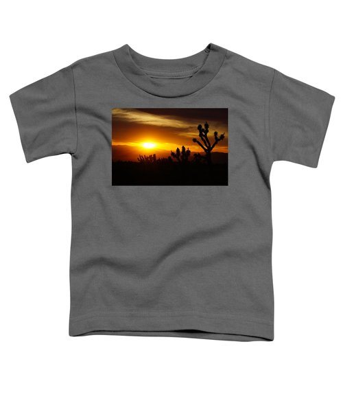 Joshua Tree Sunset In Nevada Toddler T-Shirt