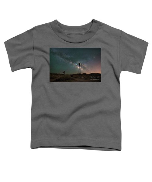 Joshua Tree Windmill Milky Way  Toddler T-Shirt