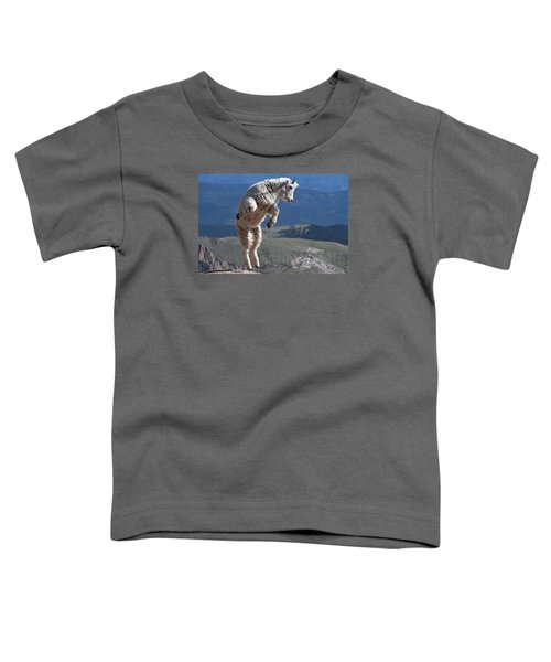 Toddler T-Shirt featuring the photograph Jump by Gary Lengyel