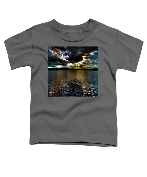 Toddler T-Shirt featuring the photograph June Sunset On Nicks Lake by David Patterson