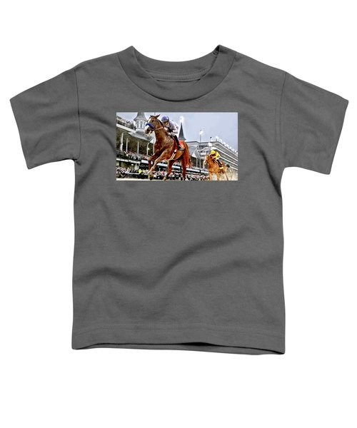 Justify Wins Kentucky Derby Toddler T-Shirt