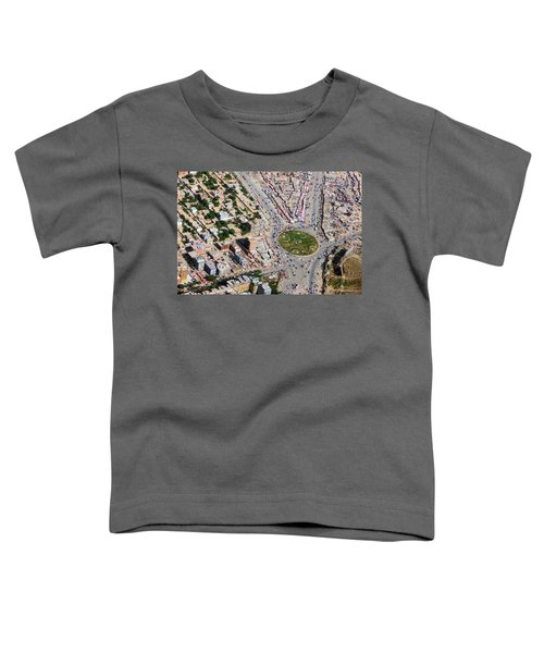 Kabul Traffic Circle Aerial Photo Toddler T-Shirt