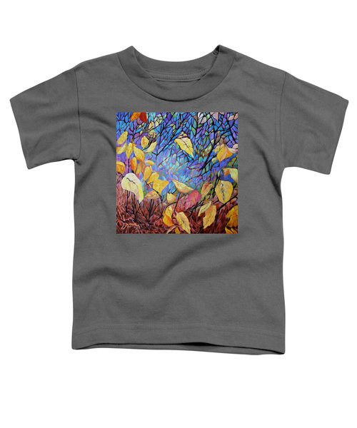 Toddler T-Shirt featuring the painting Kaleidescope by Joanne Smoley