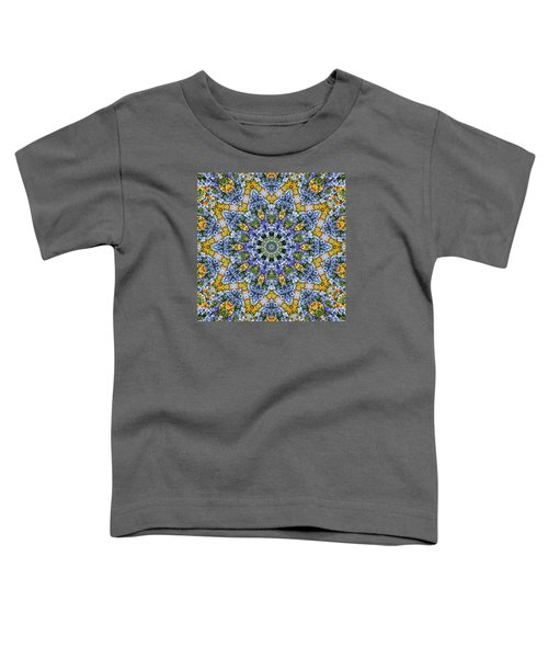 Kaleidoscope - Blue And Yellow Toddler T-Shirt