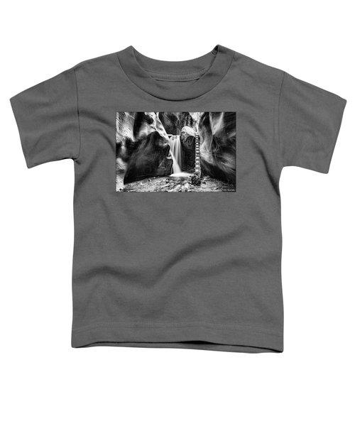 Kanarraville Falls Bw Toddler T-Shirt