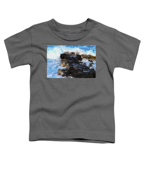 Kauai Rock Splash Toddler T-Shirt