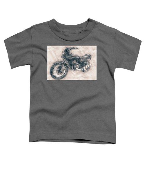 Kawasaki Triple - Kawasaki Motorcycles - 1968 - Motorcycle Poster - Automotive Art Toddler T-Shirt