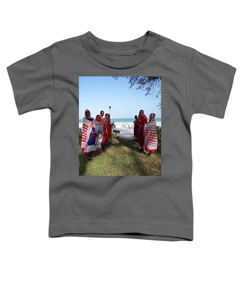 Kenya Wedding On Beach Maasai Bridal Welcome Toddler T-Shirt