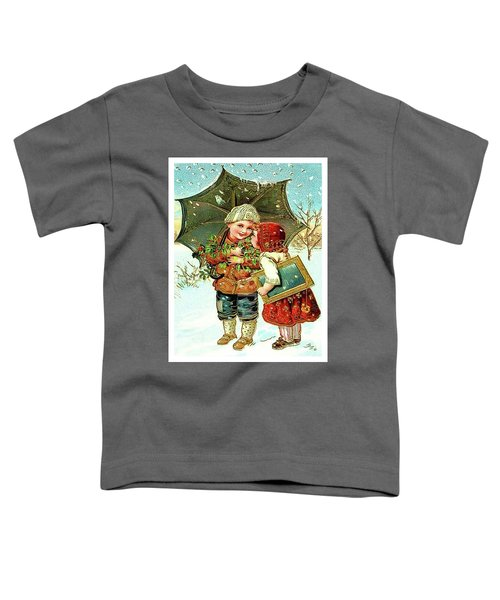 Kids On Snow Toddler T-Shirt