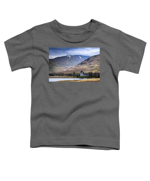 Kilchurn Castle On Loch Awe In Scotland Toddler T-Shirt