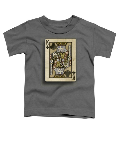 King Of Clubs In Wood Toddler T-Shirt