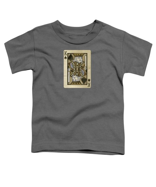 King Of Spades In Wood Toddler T-Shirt
