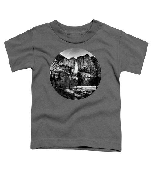 King Of Waterfalls, Black And White Toddler T-Shirt by Adam Morsa
