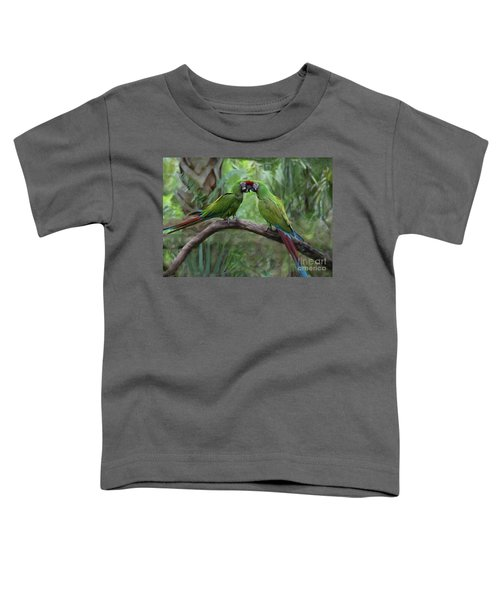 Kissing Macaws Toddler T-Shirt