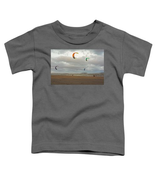 Kitesurfing On Revere Beach Toddler T-Shirt