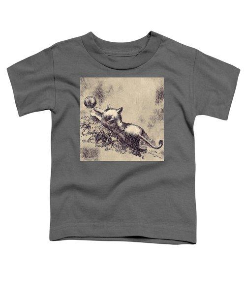 Kitten Playing With Ball Toddler T-Shirt