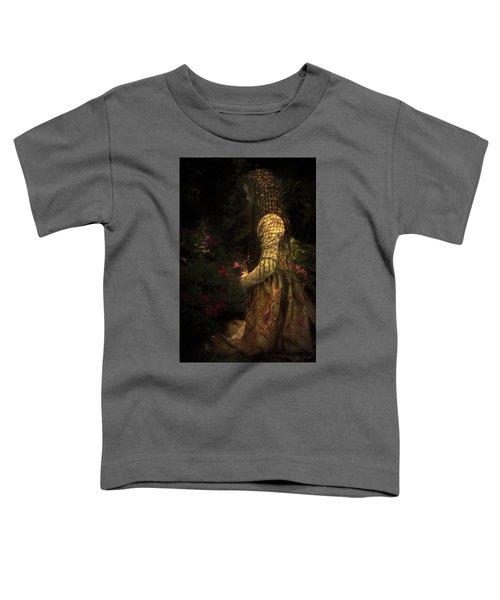 Kneeling In The Garden Toddler T-Shirt