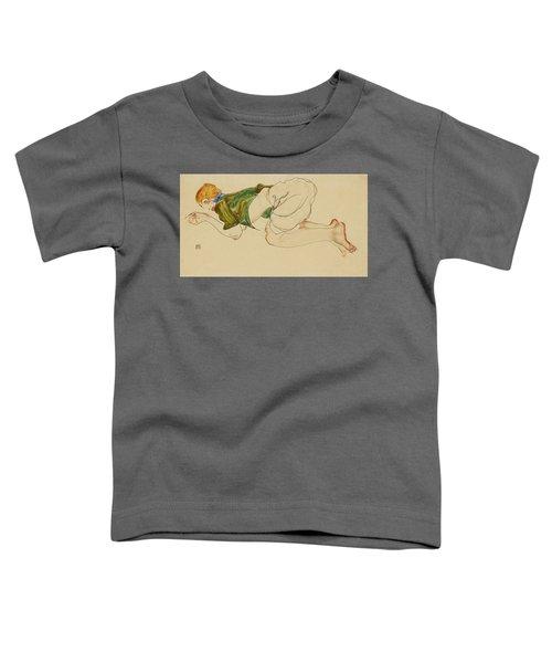 Kniende Frau Toddler T-Shirt