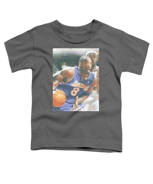 Kobe Bryant Lebron James Toddler T-Shirt by Joe Hamilton