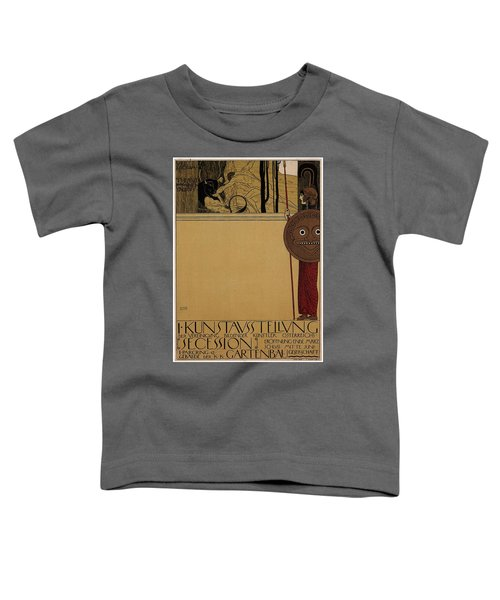kunstavsstellvng - Vienna Secession Exhibition - Retro travel Poster - Vintage Poster Toddler T-Shirt