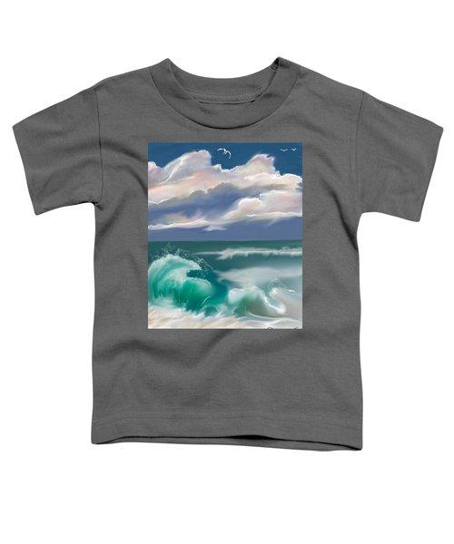 Toddler T-Shirt featuring the digital art Kure Beach by Gerry Morgan