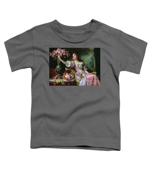 Lady With Flowers Toddler T-Shirt
