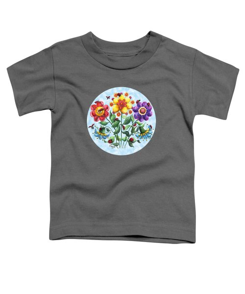Ladybug Playground On A Summer Day Toddler T-Shirt by Shelley Wallace Ylst