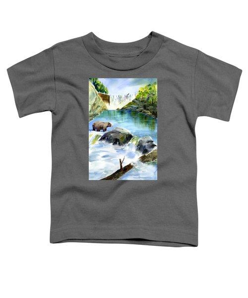 Lake Clementine Falls Bear Toddler T-Shirt