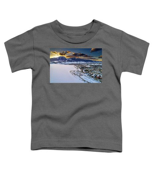 Toddler T-Shirt featuring the photograph Lake Dillon Sunset by Sebastian Musial