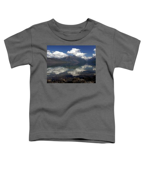 Lake Mcdonald Reflection Glacier National Park Toddler T-Shirt