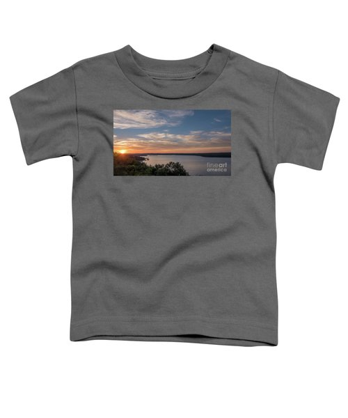 Lake Travis During Sunset With Clouds In The Sky Toddler T-Shirt