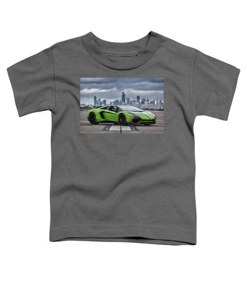 #lamborghini #aventadorsv #superveloce #roadster #print Toddler T-Shirt
