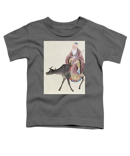 Lao Tzu On His Buffalo Toddler T-Shirt