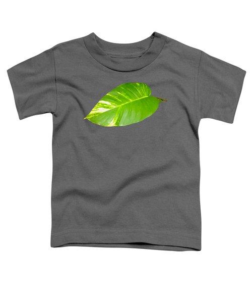 Toddler T-Shirt featuring the digital art Large Leaf Art by Francesca Mackenney