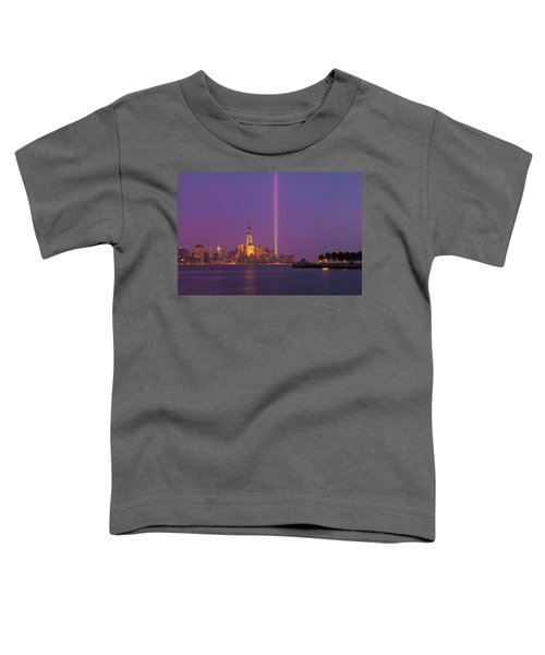 Laser Twin Towers In New York City Toddler T-Shirt