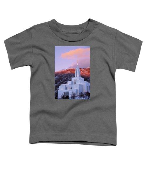 Last Light At Draper Temple Toddler T-Shirt