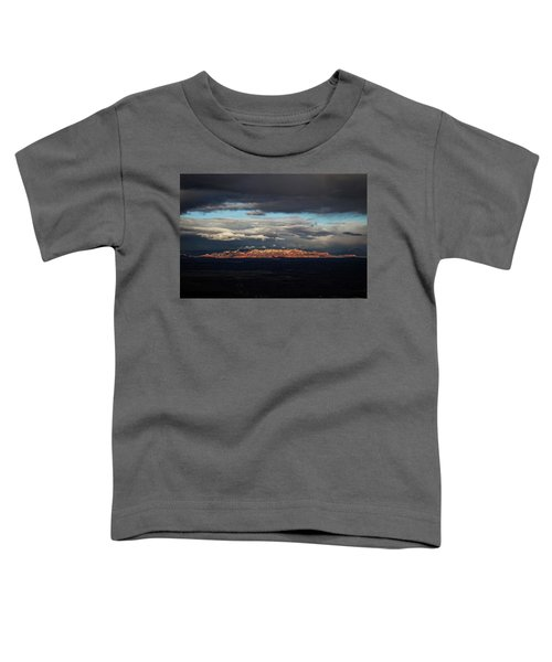 Late Light On Red Rocks With Storm Clouds Toddler T-Shirt