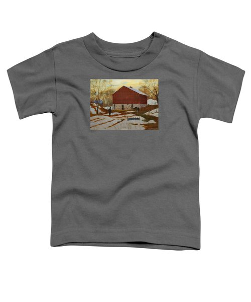 Late Winter At The Farm Toddler T-Shirt