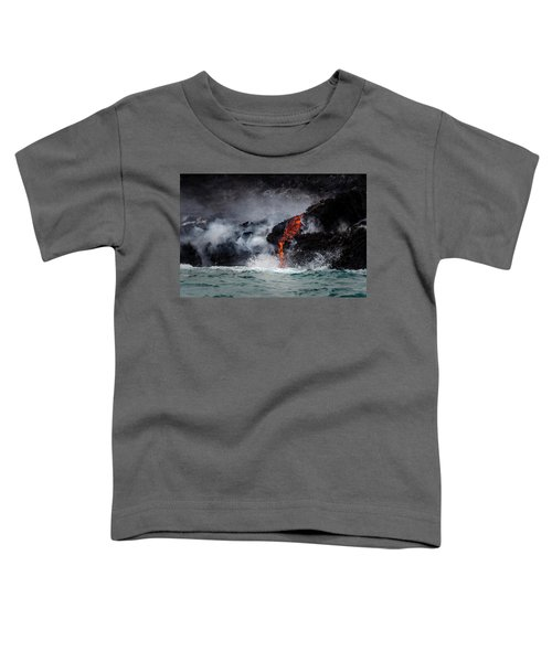 Lava Dripping Into The Ocean Toddler T-Shirt