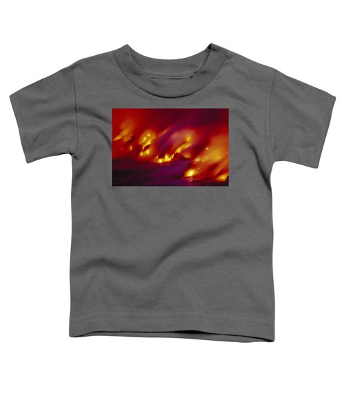 Lava Up Close Toddler T-Shirt by Ron Dahlquist - Printscapes