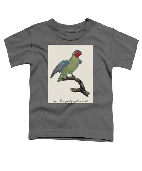 Le Perroquet Geoffroy Male / Red Cheeked Parrot - Restored 19th C. By Barraband Toddler T-Shirt by Jose Elias - Sofia Pereira