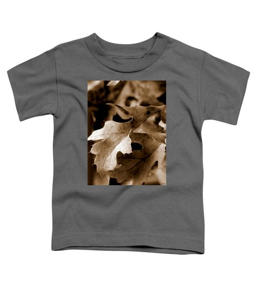 Leaf Study In Sepia IIi Toddler T-Shirt