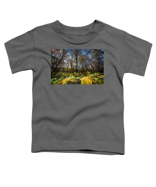 Leafy Yellow Forest Carpet Toddler T-Shirt