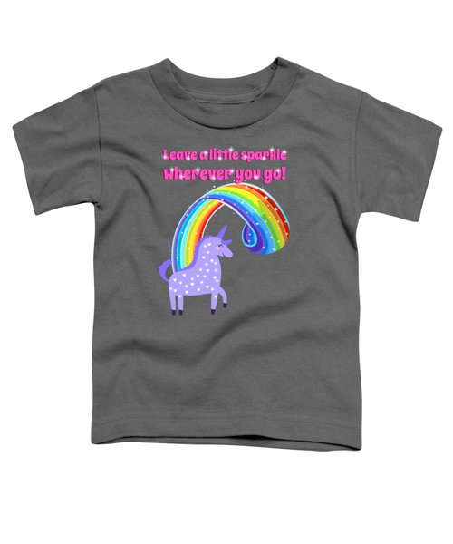 Leave A Little Sparkle Wherever You Go Toddler T-Shirt by Little Bunny Sunshine