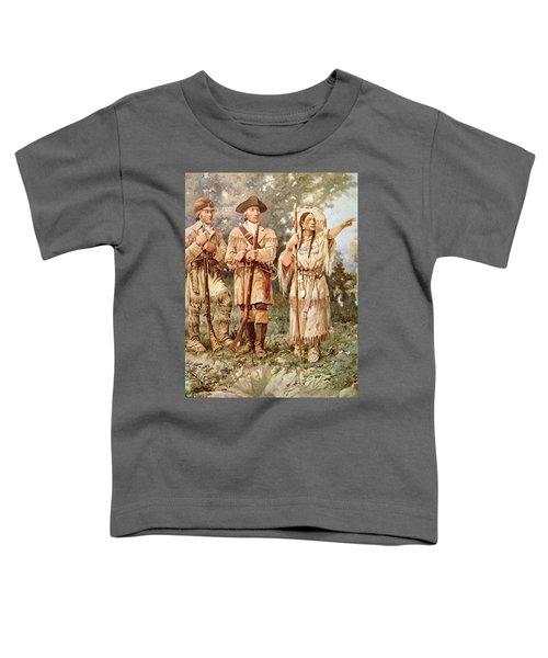 Lewis And Clark With Sacagawea Toddler T-Shirt