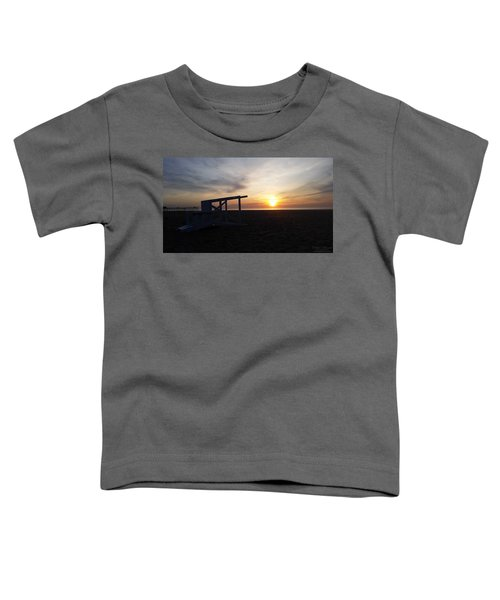 Lifeguard Stand And Sunrise Toddler T-Shirt